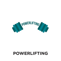 powerlifting logo isolated on white background , colorful vector icon, brand sign & symbol for your business