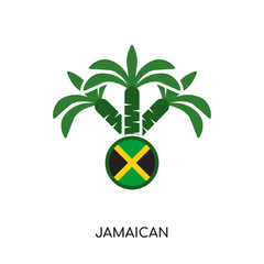 jamaican logo isolated on white background , colorful vector icon, brand sign & symbol for your business