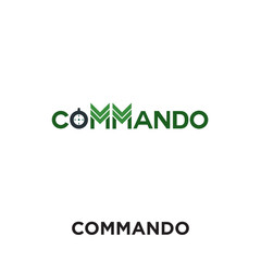 commando logo isolated on white background , colorful vector icon, brand sign & symbol for your business