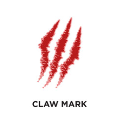 claw mark logo isolated on white background , colorful vector icon, brand sign & symbol for your business