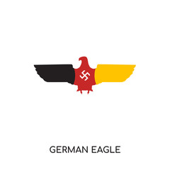 german eagle logo isolated on white background , colorful vector icon, brand sign & symbol for your business