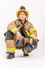 American male Fire Fighter
