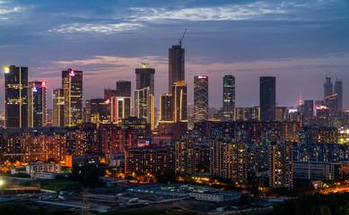 Modern city center, business center, in Nanjing