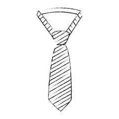 necktie elegant fathers day icon vector illustration design