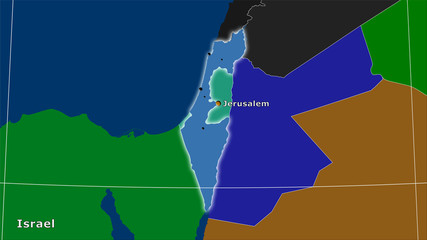 Israel, administrative divisions - composition