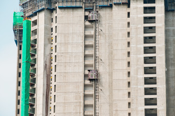 Housing construction in Hong Kong