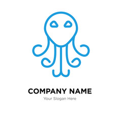 cthulhu company logo design template, colorful vector icon for your business, brand sign and symbol