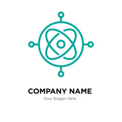 gyroscope company logo design template, colorful vector icon for your business, brand sign and symbol
