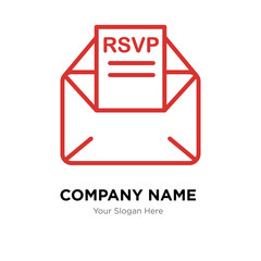 rsvp company logo design template, colorful vector icon for your business, brand sign and symbol