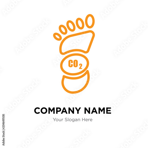 Carbon Footprint Company Logo Design Template Colorful Vector Icon