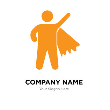 Superman Flying company logo design template, colorful vector icon for your business, brand sign and symbol