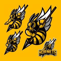 hornet/bee/wasp esport gaming mascot logo template