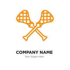 lacrosse company logo design template, colorful vector icon for your business, brand sign and symbol