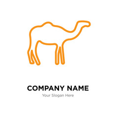 Dromedary company logo design template, colorful vector icon for your business, brand sign and symbol