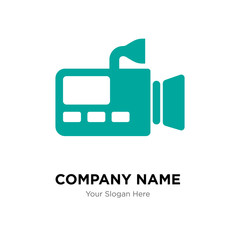 Video cameras company logo design template, colorful vector icon for your business, brand sign and symbol
