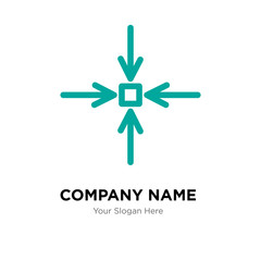 Focus company logo design template, colorful vector icon for your business, brand sign and symbol