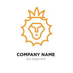 Lion of Judah company logo design template, colorful vector icon for your business, brand sign and symbol