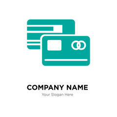 Master card company logo design template, colorful vector icon for your business, brand sign and symbol