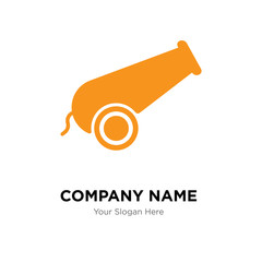 Cannon company logo design template, colorful vector icon for your business, brand sign and symbol