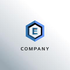 Letter E Hexagon Logo Concept