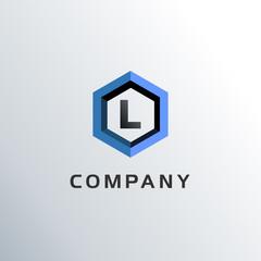 Letter L Hexagon Logo Concept