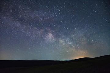 Canvas Prints Night blue Beautiful night sky milky way photographs