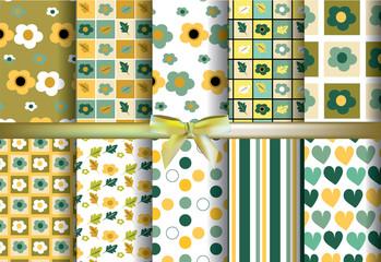 set Green and yellow pattern