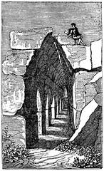 Cyclopean masonry of Tiryns (from Das Heller-Magazin, July 19, 1834)