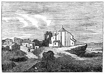 Palos de la Frontera, Spain (from Das Heller-Magazin, July 19, 1834)