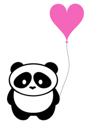 Panda Bear With Balloon