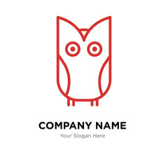 Owl company logo design template, colorful vector icon for your business, brand sign and symbol
