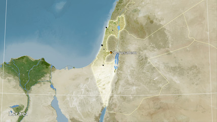 Israel, satellite B - composition