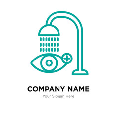 eye wash company logo design template, colorful vector icon for your business, brand sign and symbol