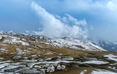 Snow Covered Spiti Valley
