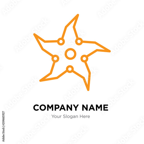 throwing star company logo design template colorful vector icon for
