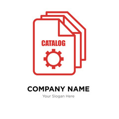 service catalog company logo design template, colorful vector icon for your business, brand sign and symbol