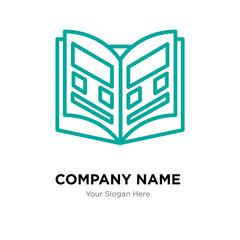 Yearbook company logo design template, colorful vector icon for your business, brand sign and symbol