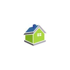 house 3D vector logo