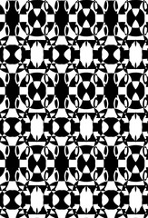 Seamless puzzle pattern with jug in black and white colors