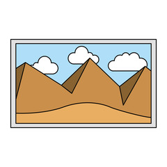 picture landscape work art icon vector illustration design