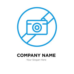 picture not available company logo design template, colorful vector icon for your business, brand sign and symbol