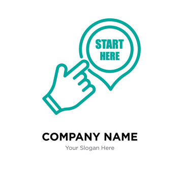 start here company logo design template, colorful vector icon for your business, brand sign and symbol