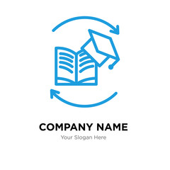 continuing education company logo design template, colorful vector icon for your business, brand sign and symbol