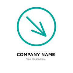 Diagonal company logo design template, colorful vector icon for your business, brand sign and symbol