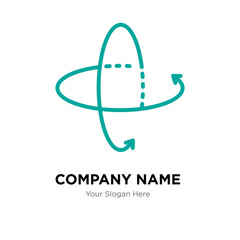 360 tour company logo design template, colorful vector icon for your business, brand sign and symbol