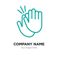 applause company logo design template, colorful vector icon for your business, brand sign and symbol