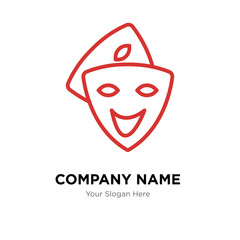 cosplay company logo design template, colorful vector icon for your business, brand sign and symbol