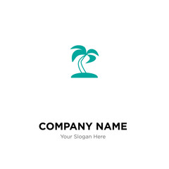 Palma tree company logo design template, colorful vector icon for your business, brand sign and symbol