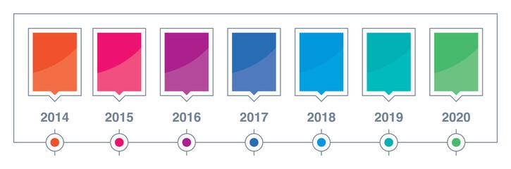 timeline colored illustration vector