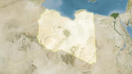 Libya, satellite B - light glow
